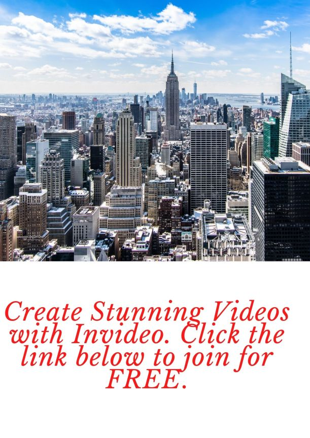 Create Stunning Videos with Invideo. Click the link below to join for FREE.
